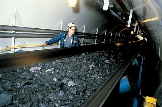 Транспортерная шахтная лента